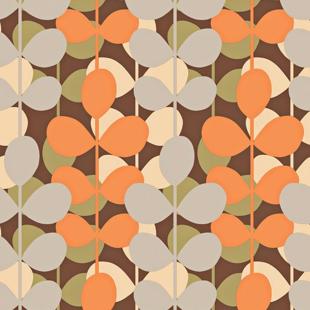 The Wallpaper Company 8 in. x 10 in. Multi Colored Modern Large Scale Leaf Stripe Wallpaper Sample