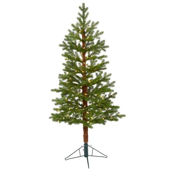 5 ft. Pre-lit Fairbanks Fir Artificial Christmas Tree with 150 Clear Warm Multi-Function LED Lights