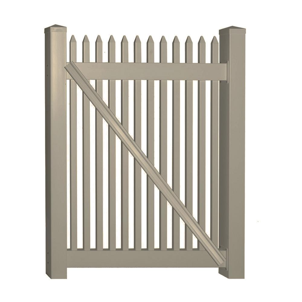 Hartford 4 ft. W x 3 ft. H Khaki Vinyl Picket