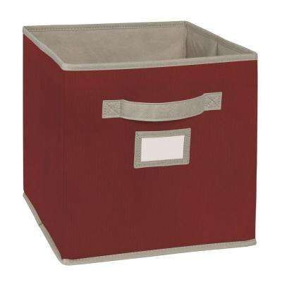 10.5 in. W x 11 in. H x 10.5 in. D Red Fabric Drawer