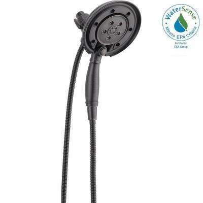 In2ition 4-Spray Hand Shower and Shower Head Combo Kit with H2Okinetic and MagnaTite Docking in Venetian Bronze