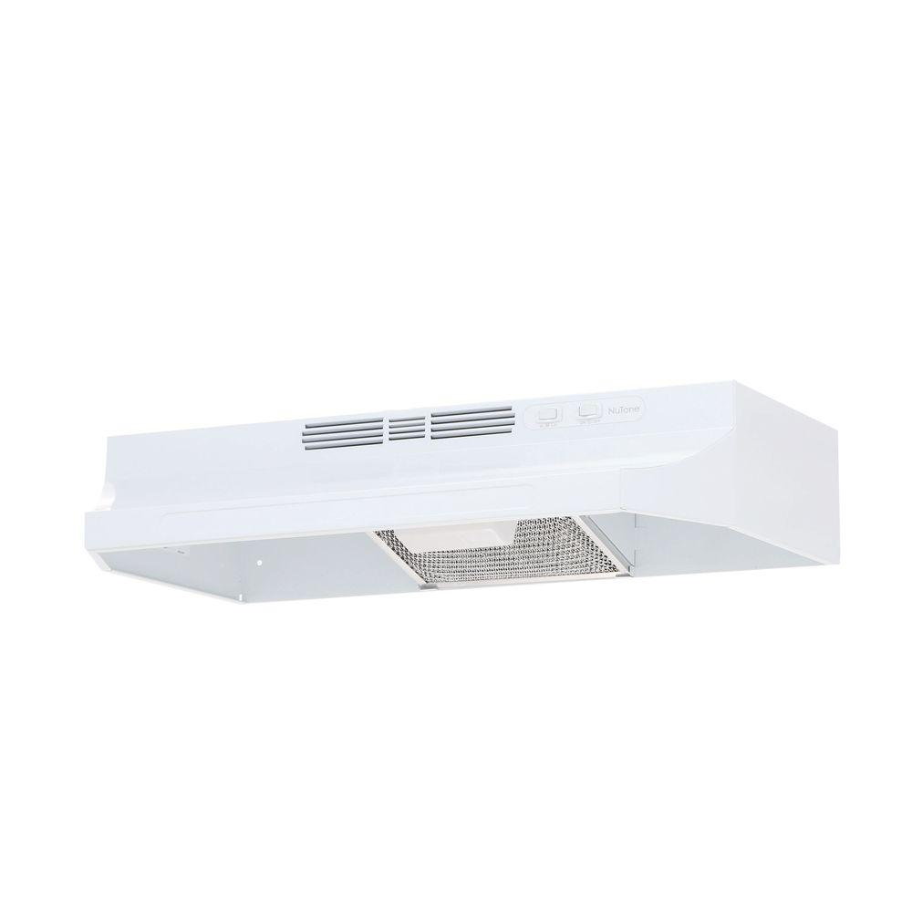 kitchen non vented range hood stove cabinet mount fan light ductless in white ebay. Black Bedroom Furniture Sets. Home Design Ideas