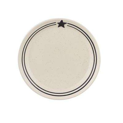 Country Star Cream Salad Plate (Set of 4)