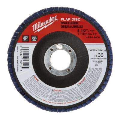 4-1/2 in. x 7/8 in. 80-Grit Flap Disc (Type 29)
