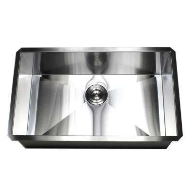 Undermount 16-Gauge Stainless Steel 30 in. x 18 in. x 10 in. Deep Single Bowl Zero Radius Kitchen Sink