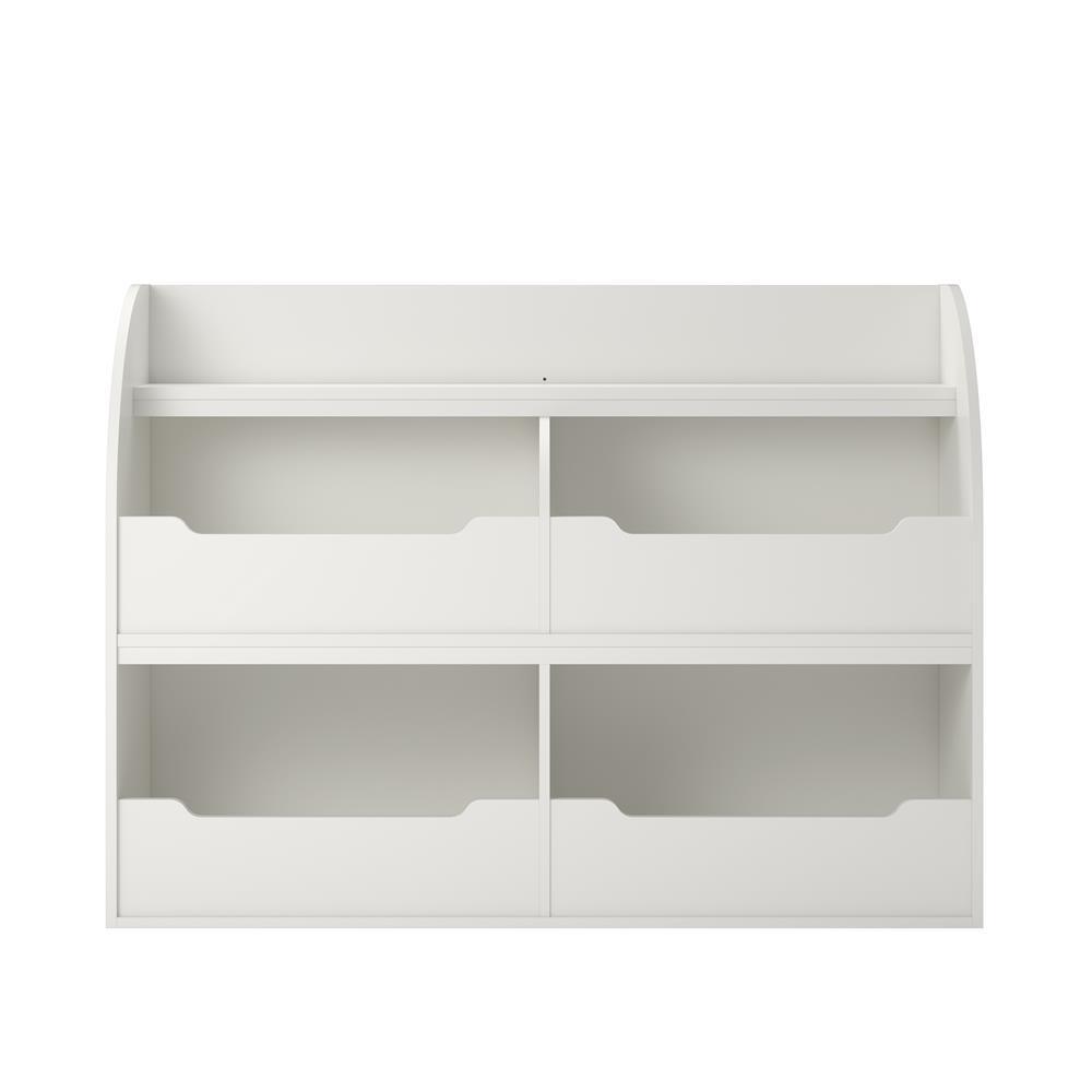 Neptune White Toy Storage Bookcase