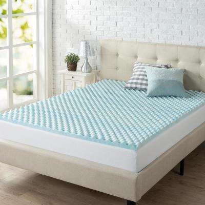 2 in. Swirl King Gel Memory Foam Topper
