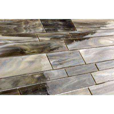 Matchstix Mudbath 12 in. x 12 in. x 3 mm Glass Floor and Wall Tile