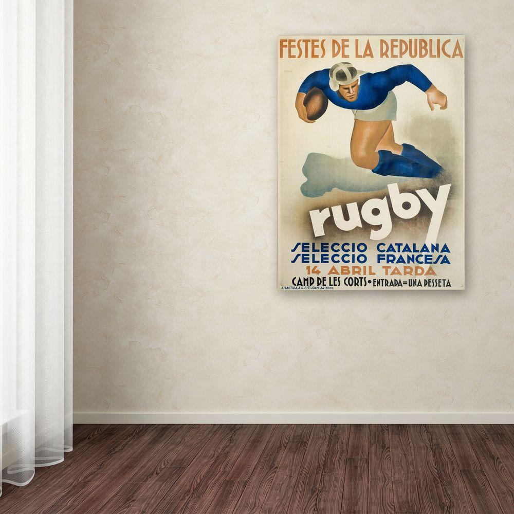 32 in. x 22 in. Rugby Canvas Art