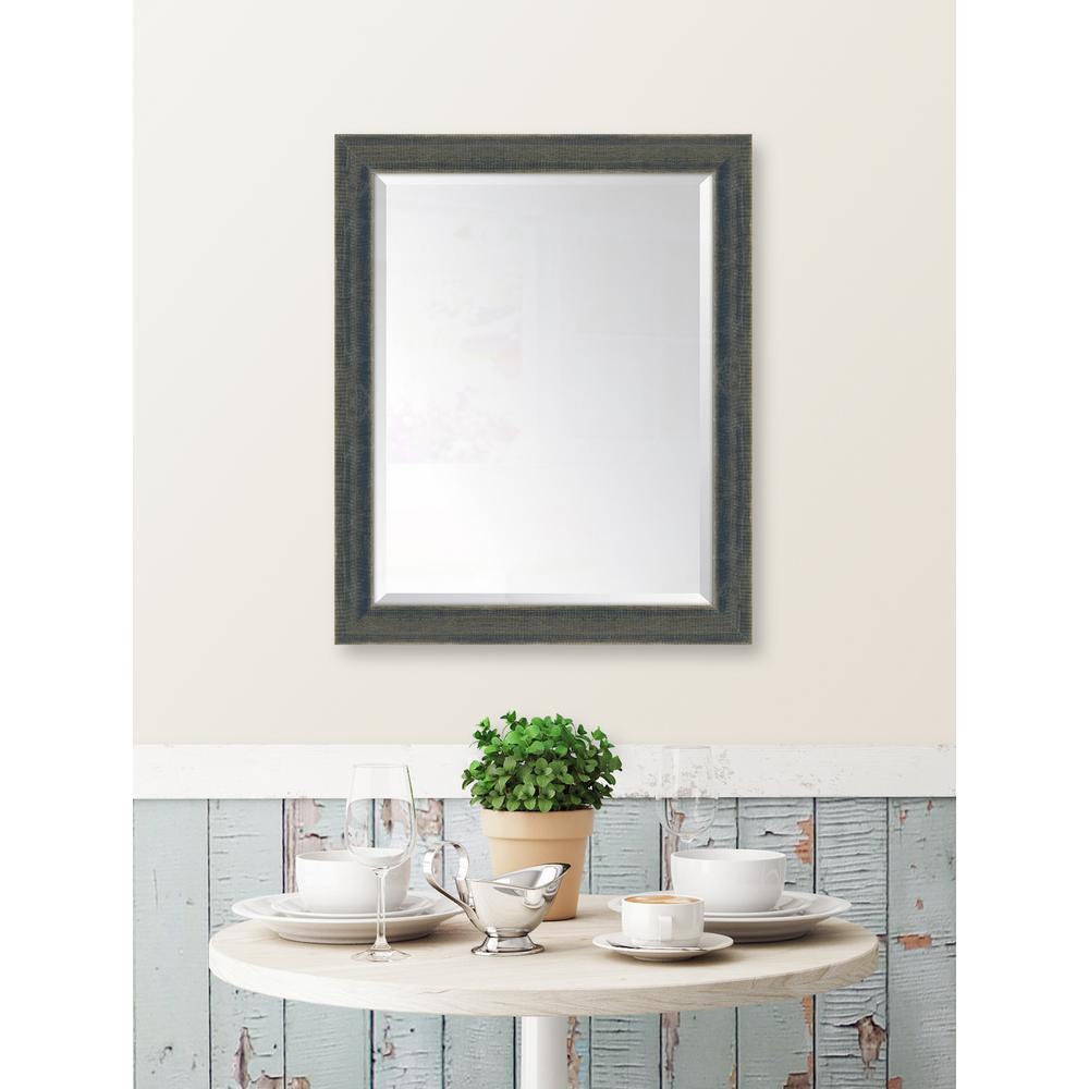 27 in. x 33 in. Framed Indigo Large Mirror