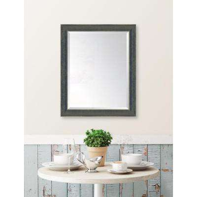 27 in. x 33 in. Framed Indigo Large Mirror