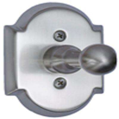 Satin Nickel Arch Top Single Robe Hook
