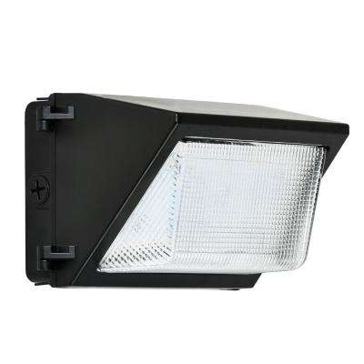 52-Watt Black Outdoor Integrated LED Rectangular Wall Pack Light