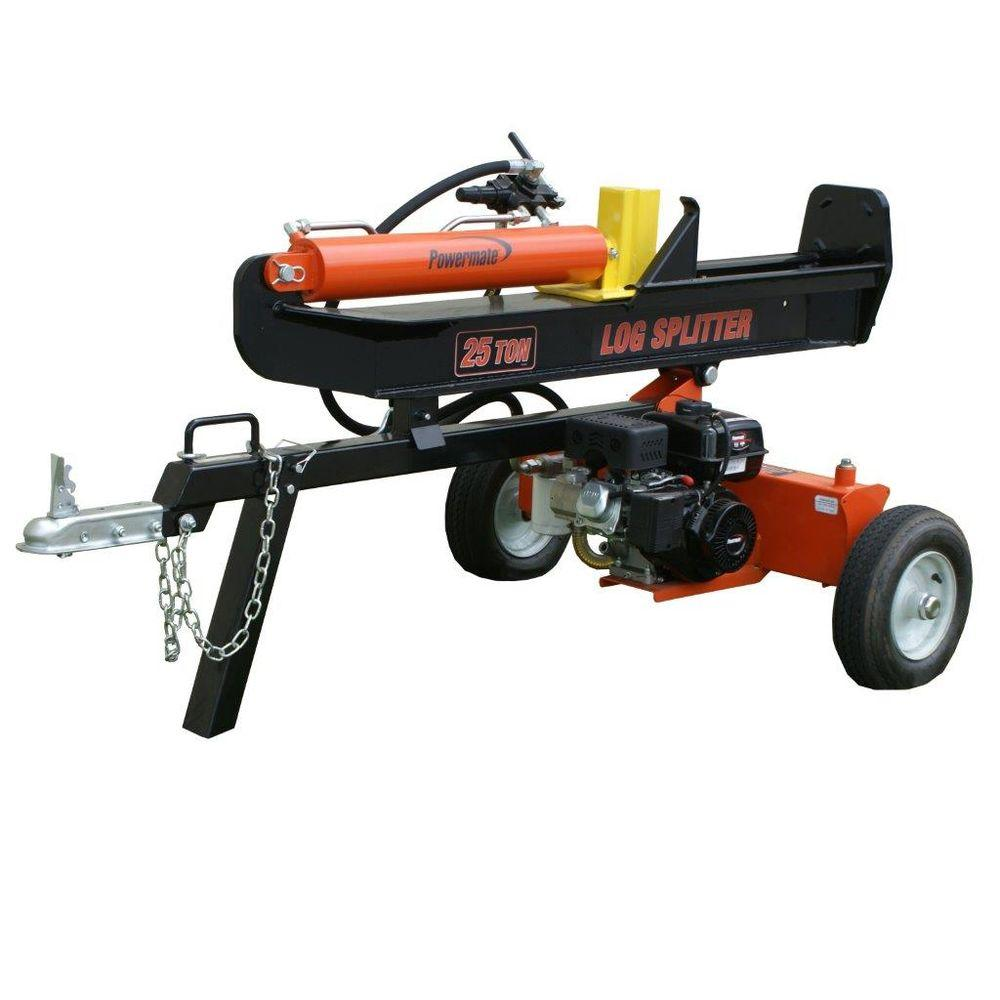 25 Ton 208cc Gas Log Splitter