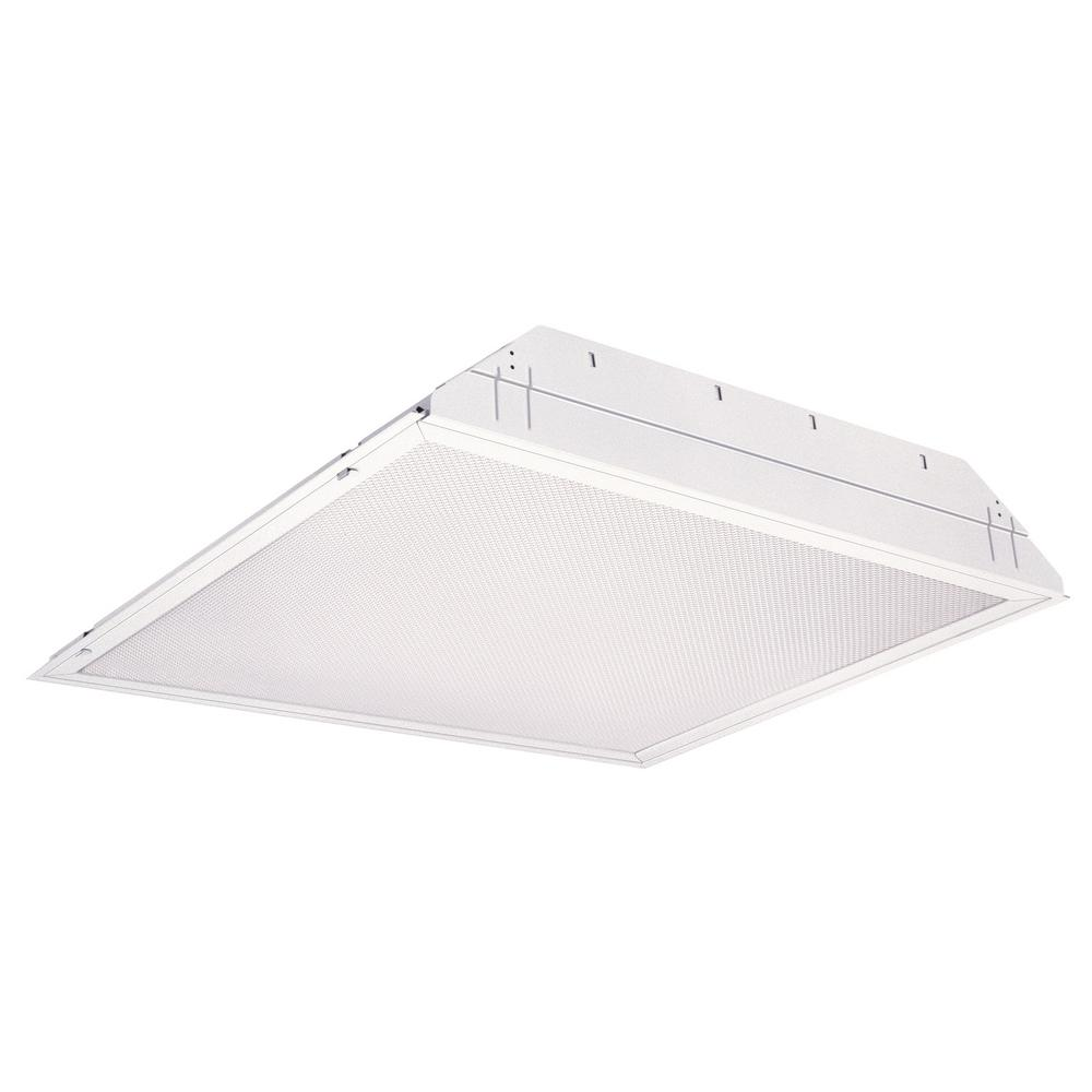Lithonia Lighting 2sp8 G 2 U316 A12 120 Gesb 2 Light White Fluorescent Ceiling Troffer