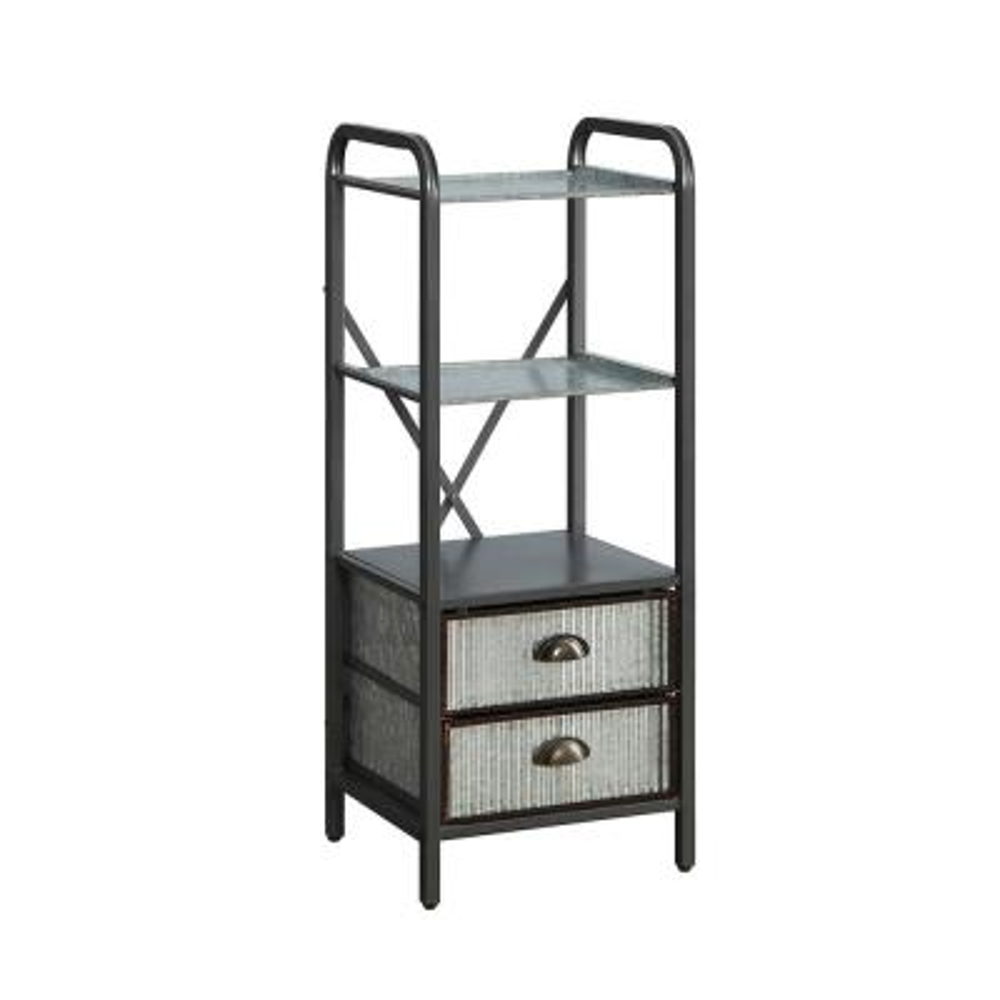 Intek 15 in. W x 13 in. D x 39 in. H Silver 2-Drawer Floor Cabinet