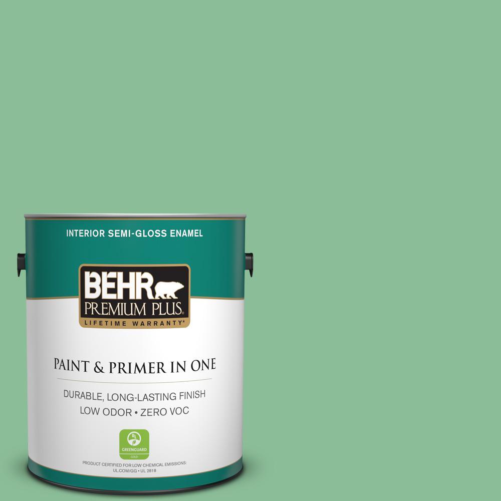 1-gal. #M410-4 Garden Swing Semi-Gloss Enamel Interior Paint