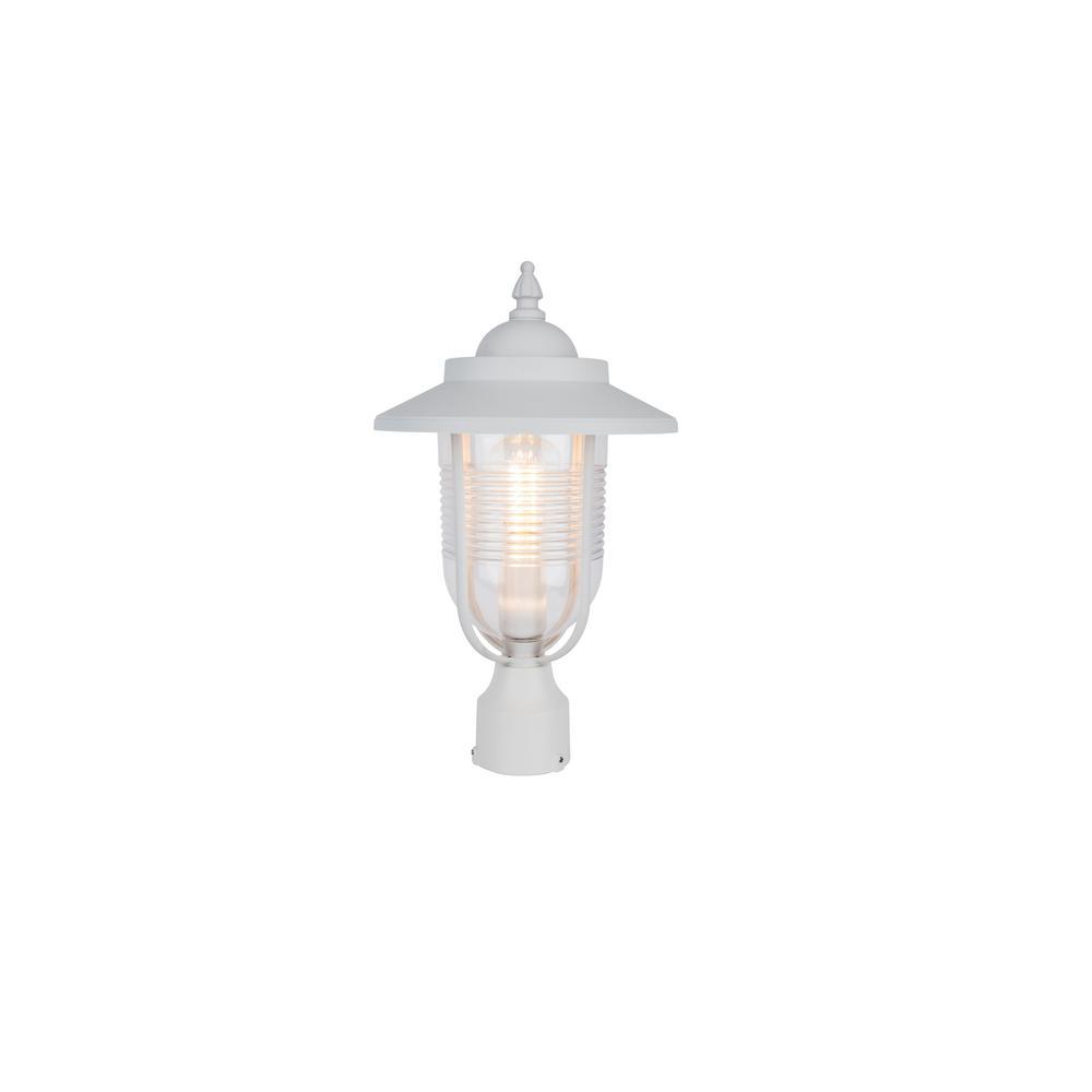 Coastal Old Saybrook 1-Light Outdoor White Post Light