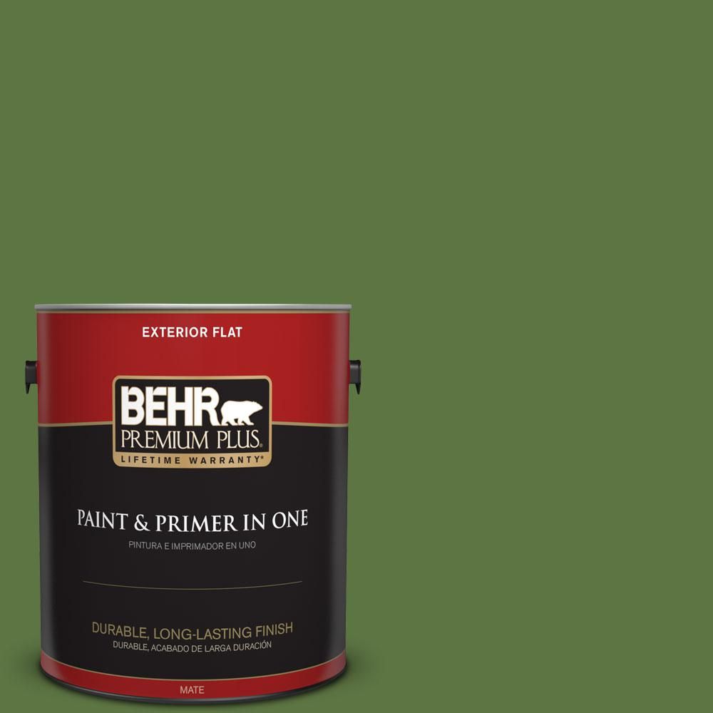 1-gal. #420D-7 Dill Pickle Flat Exterior Paint
