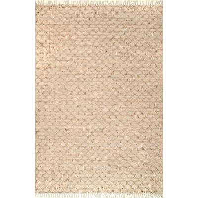 Natural Ali Natural 7 ft. 6 in. x 9 ft. 6 in. Area Rug