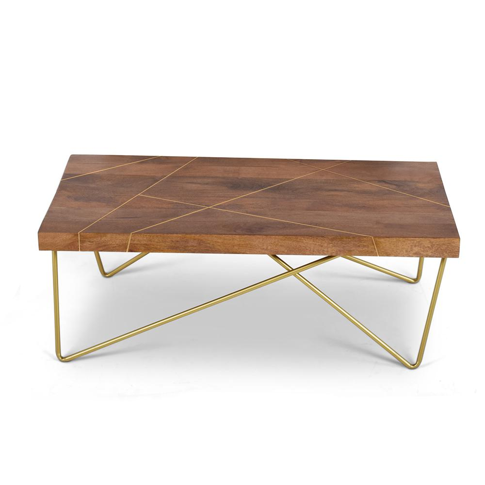 Steve Silver Company Walter Mango Wood Cocktail Table With Top With
