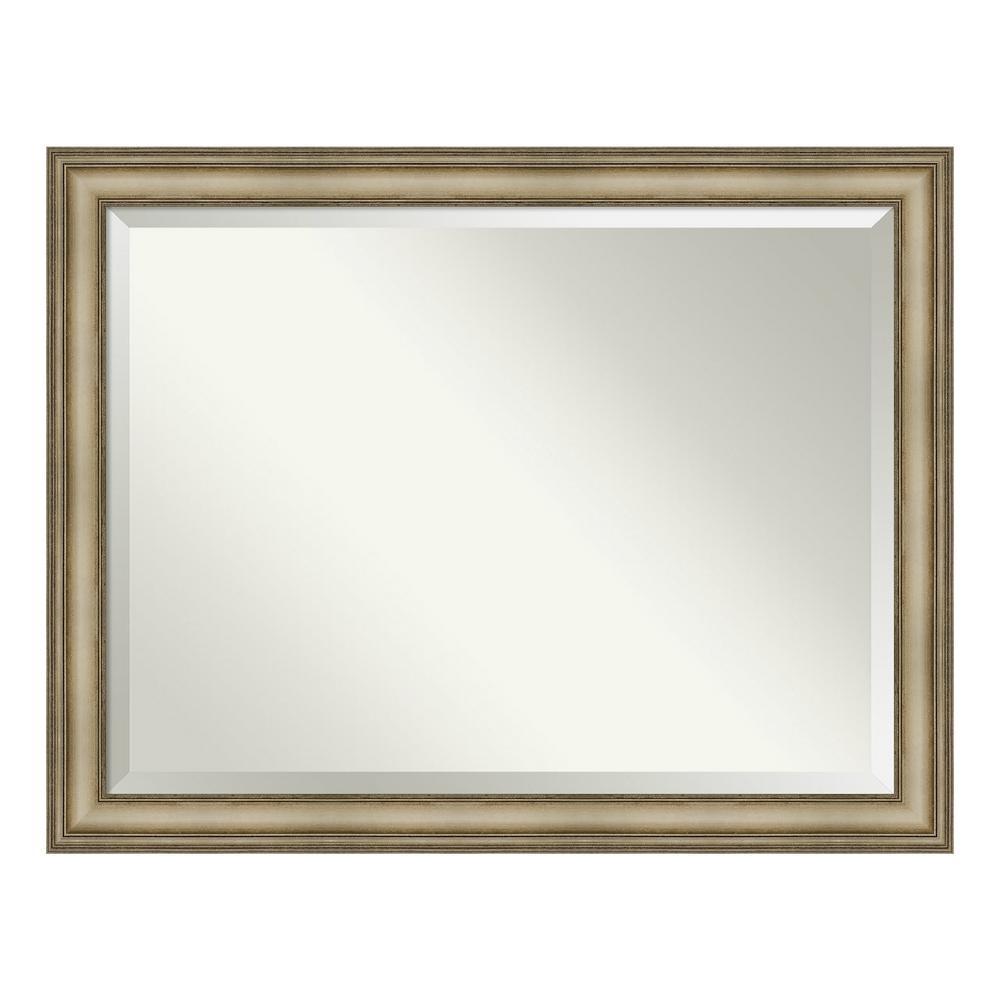Amanti Art Mezzanine Antique Silver Bathroom Vanity Mirror DSW4093136