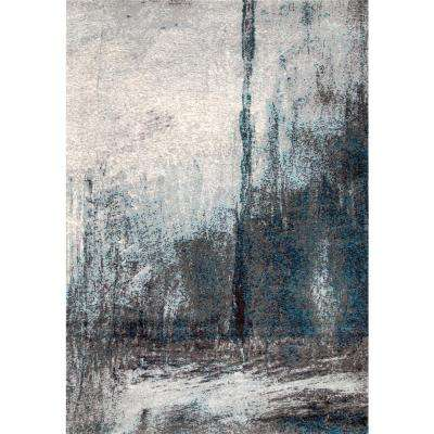 Noreen Abstract Grey 9 ft. x 12 ft. Area Rug
