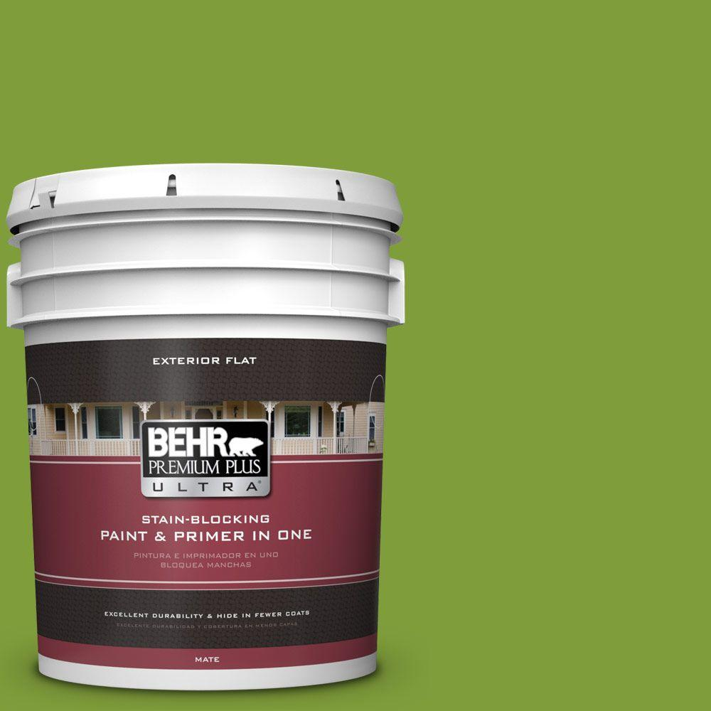 BEHR Premium Plus Ultra 5-gal. #T14-18 New Shoot Flat Exterior Paint