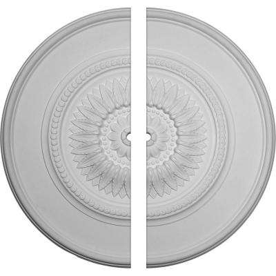 41-1/8 in. O.D. x 1-1/2 in. I.D. x 2-1/2 in. P Floral Ceiling Medallion (2-Piece)