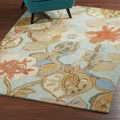 Balcony Seafoam 5 ft. 3 in. x 8 ft. 3 in. Area Rug