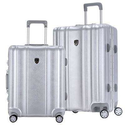 DONNA 2-Piece Hardside Vertical Luggage Set with Aluminum Frame and Dual-Blade Spinner Wheels