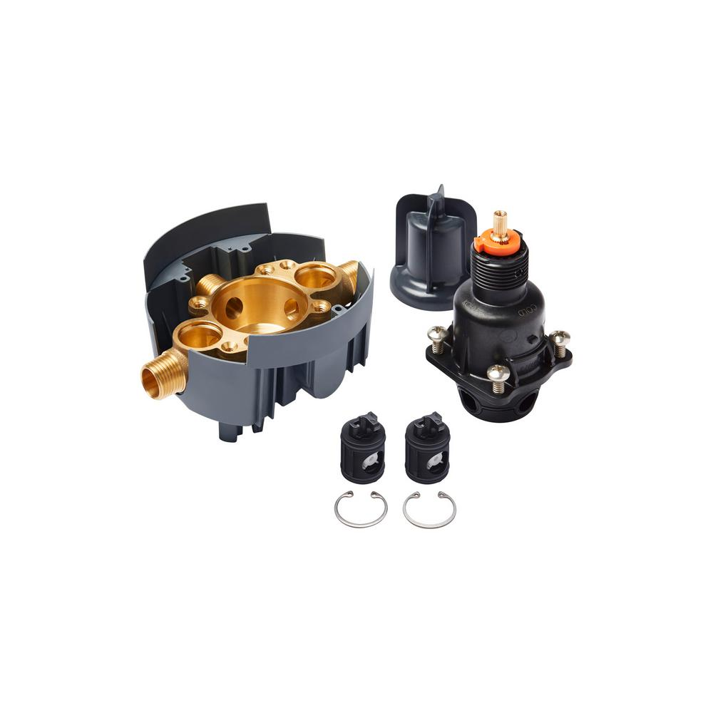 Rite-Temp Pressure-Balancing Valve Body and Cartridge Kits with Service Stops