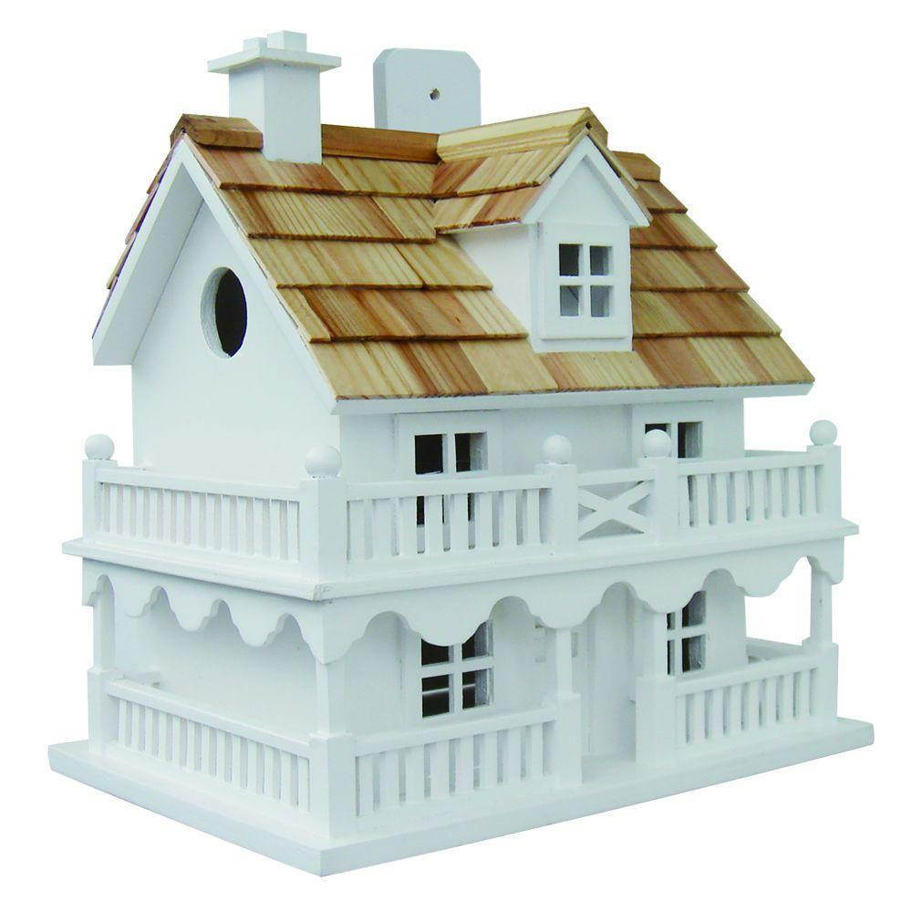 Home Bazaar Novelty Cottage Birdhouse (White)