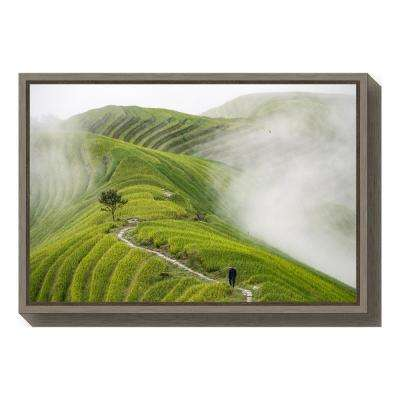 """Ping""an rice terraces"" by Miha Pavlin Framed Canvas Wall Art"