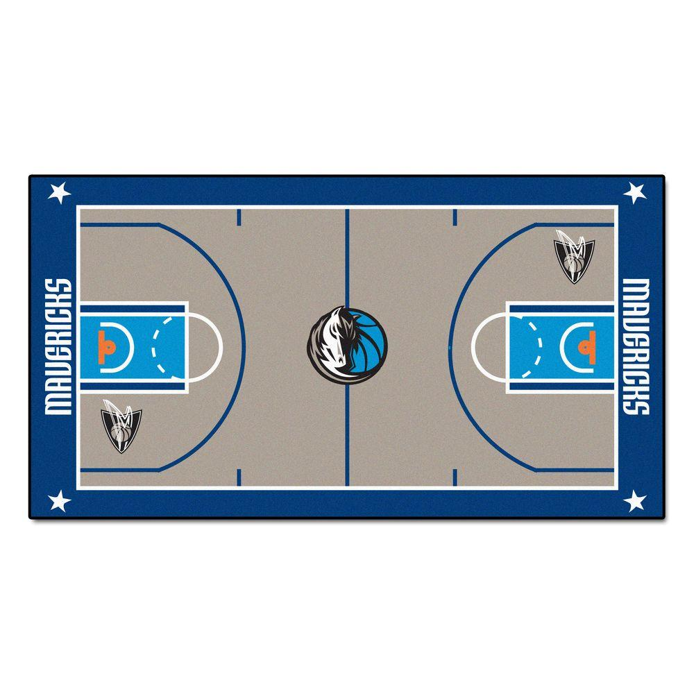 FANMATS NBA Dallas Mavericks 2 ft. 6 in. x 4 ft. 6 in. Large Court Runner-9239 - The Home Depot