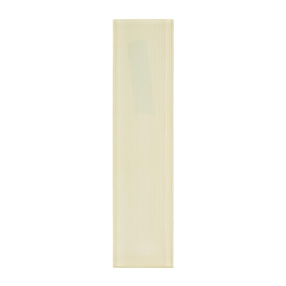 Jeffrey Court Honeysuckle Yellow 3 in. x 12 in. x 8 mm ...
