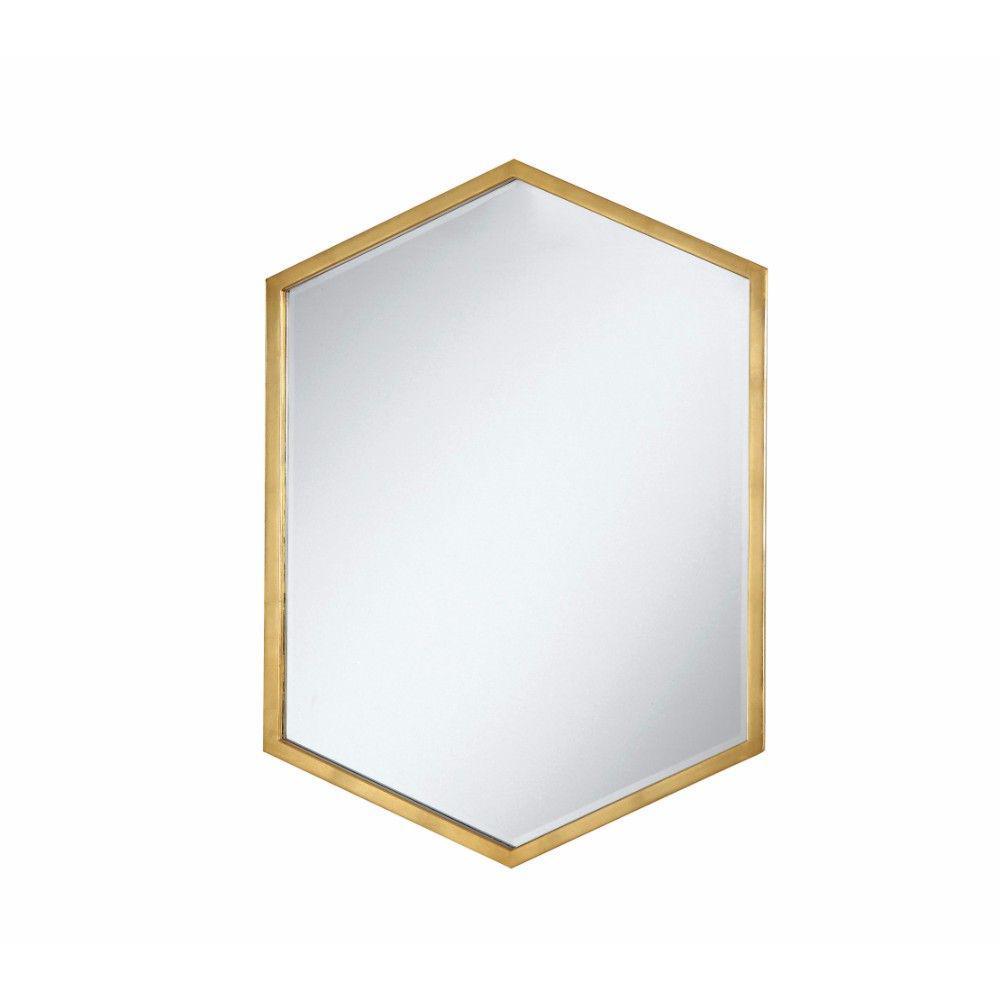 Medium Irregular Gold Modern Mirror (34 in. H x 24 in. W)