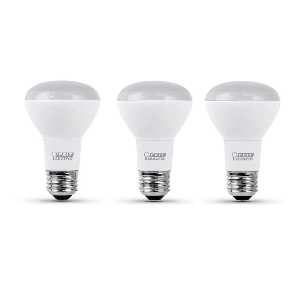 45-Watt Equivalent R20 Dimmable CEC Title 24 Compliant LED ENERGY STAR 90+ CRI Flood Light Bulb Bright White (3-Pack)