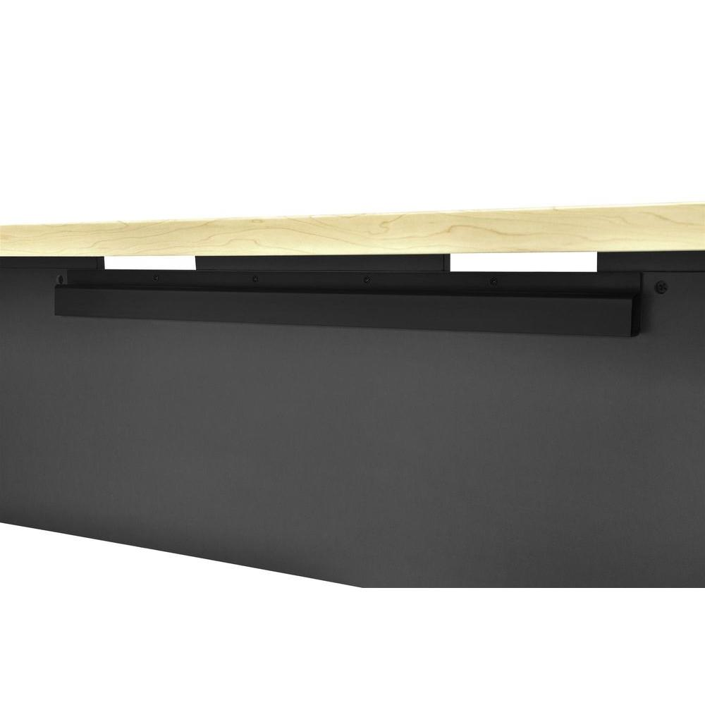Mansfield Natural and Gray Executive Desk