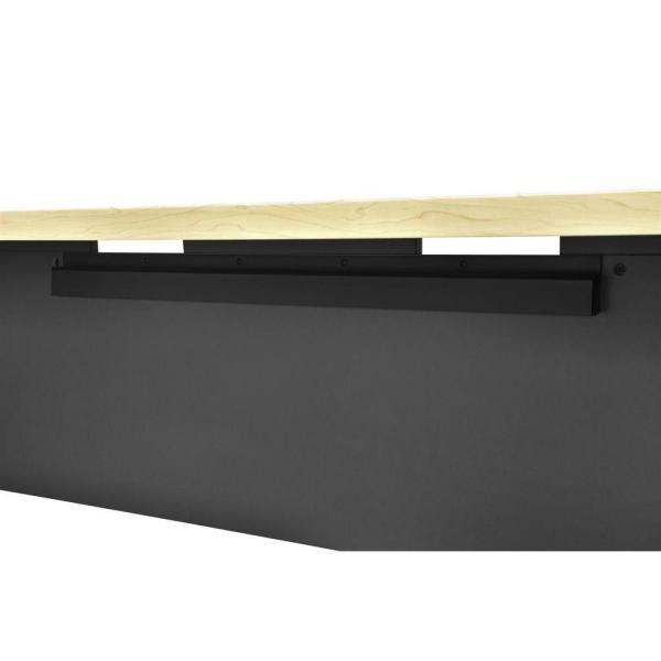Ameriwood Home Mansfield Natural and Gray Executive Desk HD71322