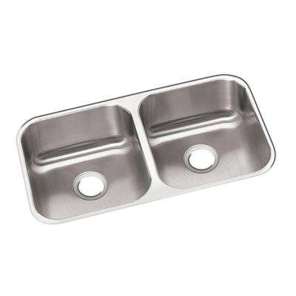 Dayton Undermount Stainless Steel 32 in. Double Bowl Kitchen Sink