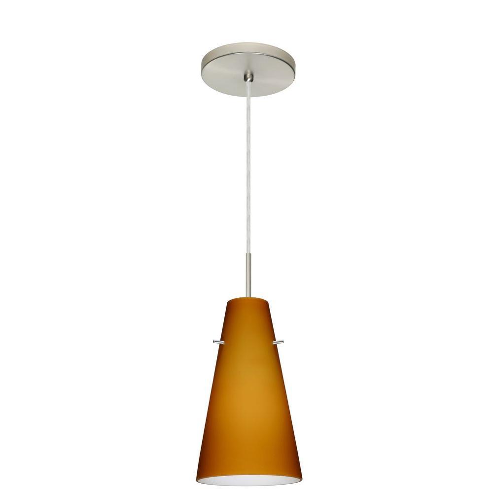 Filament Design Manhattan 1-Light Satin Nickel Pendant