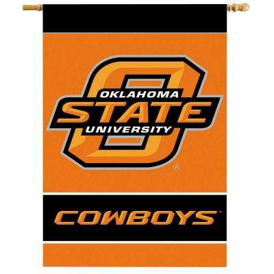 NCAA 28 in. x 40 in. Oklahoma State 2-Sided Banner with Pole Sleeve