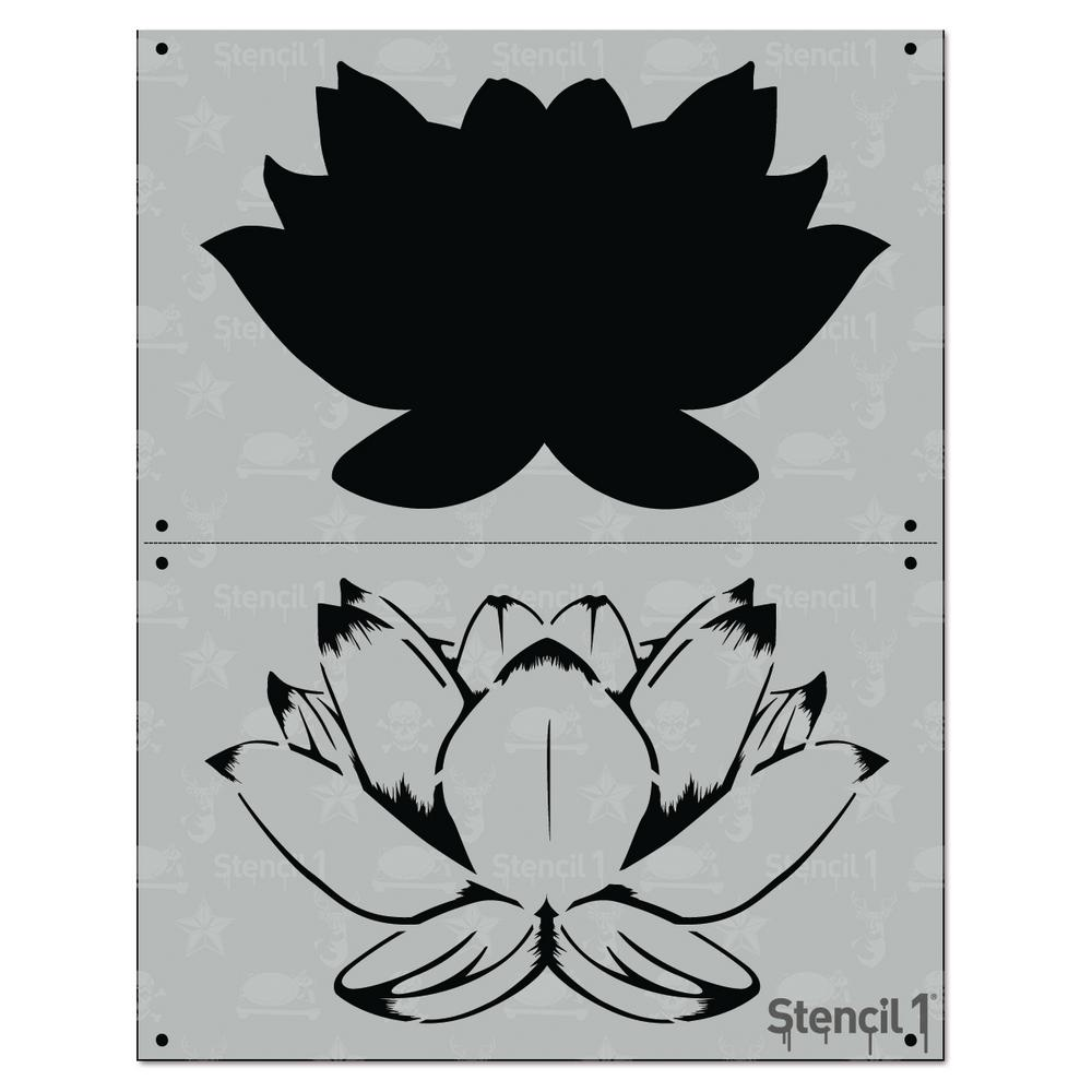 Stencil1 Lotus 2 Layer Stencil S12l80 The Home Depot