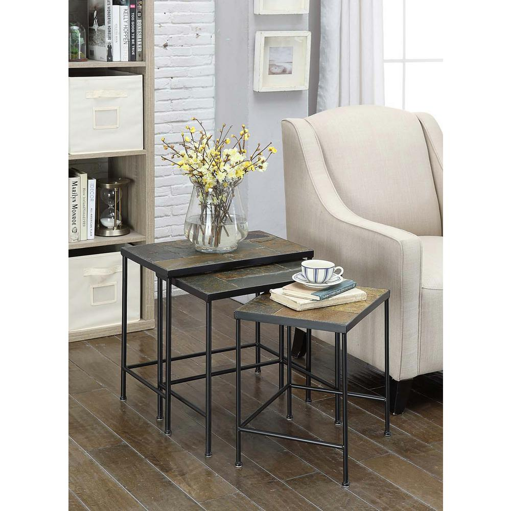 4D Concepts Slate Nesting End Table (3 Piece)