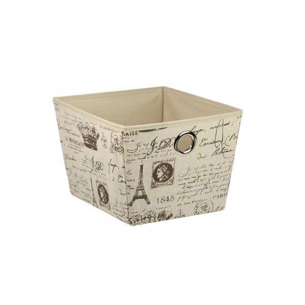 10.12 in. x 8 in. Paris Non-Woven Storage Bin