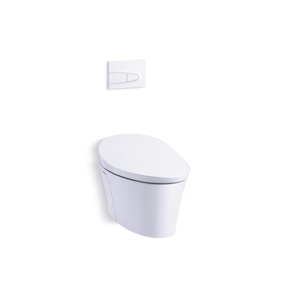 KOHLER Veil Intelligent 1-Piece 0.8/1.6 GPF Dual Flush Elongated Toilet in White