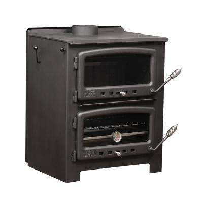 2000 sq. ft. to 2500 sq. ft. Wood Burning Stove with Cook Top and Oven and Interior Water Jacket
