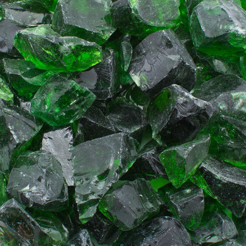 1/2 in. 20 lb. Medium Green Landscape Glass