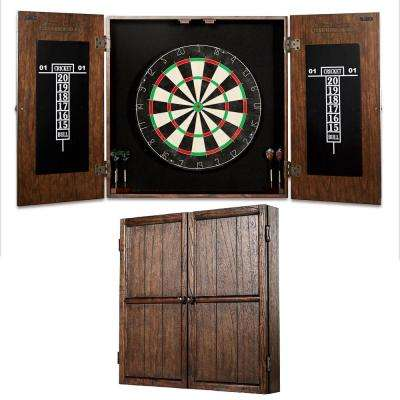 Webster Bristle Dart Board and Solid Wood Cabinet Set